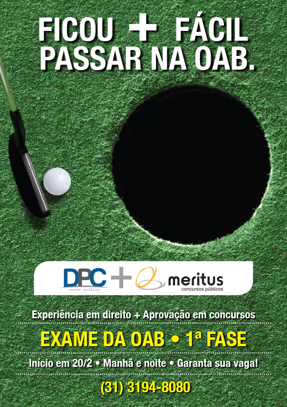 Cartaz Meritus OAB Golf