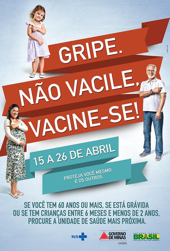 cartaz vacinação gripe