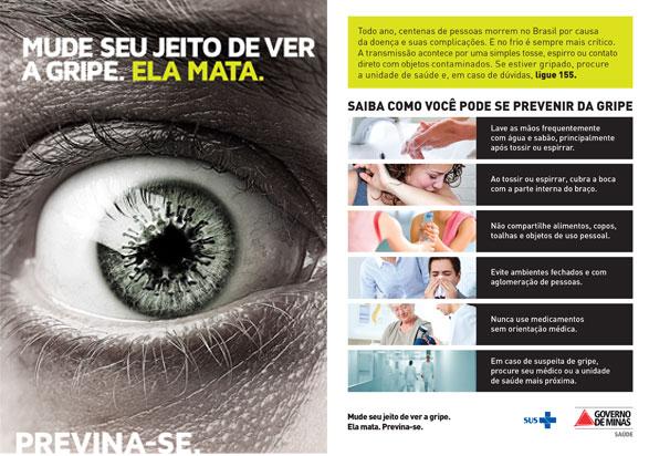 flyer campanha prevencao gripe