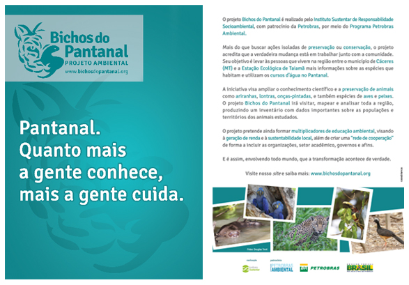 flyer bichos do pantanal