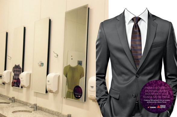 Adesivos espelho banheiros